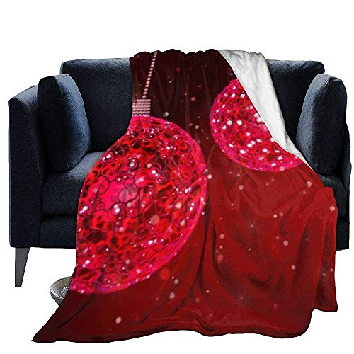 Blanket Warm Throw Christmas Decorations Print Ultra-Soft Warm Fluffy Plush Microfiber for Bed Couch Chair Living Room