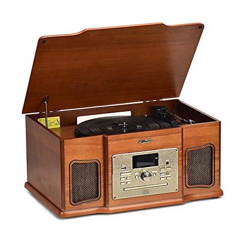 Tocadiscos Shuman 8-en-1 Sistema Retro-Tocadiscos de Vinilo,Reproductor...