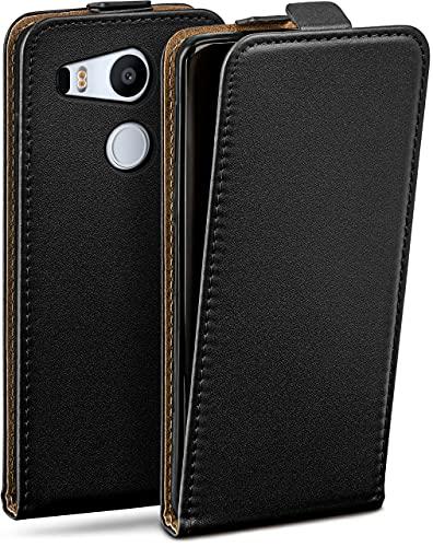 MoEx Funda abatible + Cierre magnético Compatible con LG Google Nexus 5X   Piel sintética, Noir