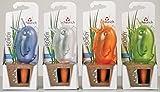 4er-Set Bewässerungskugel Blumenbewässerung Wasserspender *Bördy* - H15cm/90ml