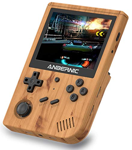 Anbernic RG351V Console di Giochi Portatile , Console di Giochi Retro OpenDingux Tony System WiFi Online Sparring , Built-in 64G TF Card 2500 Classic Giochi Support PSP   PS1   N64   NDS (Wood Grain)