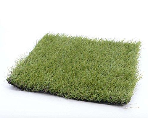Kunstgras Rasenteppich Kunstrasen Platte grün 25 x 25 cm
