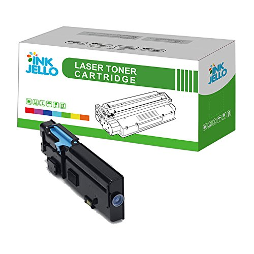InkJello Remanufatured Toner Cartridge Replacement for Dell C2660dn C2665dnf (Cyan, Single-Pack)