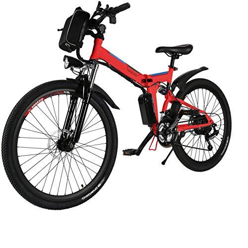 Oppikle bicicletta elettrica bicicletta Mountain Bike Bici Elettrica con Sistema di Cambio a 21 velocità, 250 W, 8 Ah, Batteria