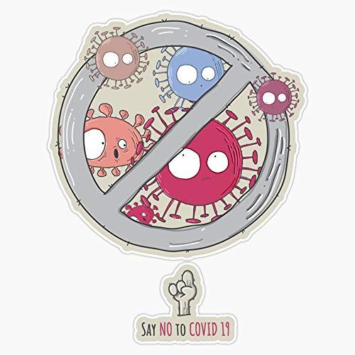 Coronavirus Decal Vinyl Bumper Sticker 5'