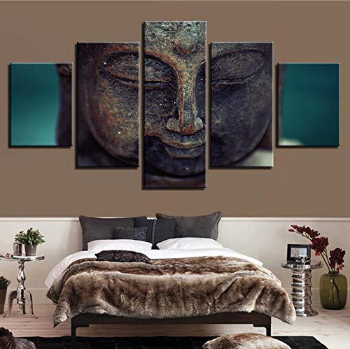 PrintWUHUA Cuadros para Dormitorios Modernos Fe Sagrada Cuadros De Salon 5 Partes (W) 100Cmx(H) 55Cm