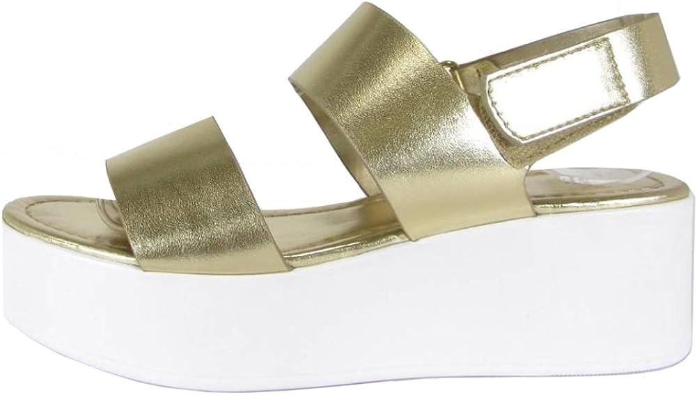 Cambridge Select Women's Two-Strap Slingback Chunky Platform Wedge Sandal