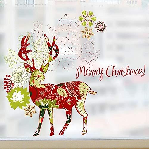 60x58cm, carteles de pared, pegatinas de pared para dormitorio, adornos navideños para ventanas, vidrio esmerilado Izable con pegamento para ventana, papel, puerta corredera, baño, baño, ventana