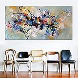 SYFDW Lienzo Arte abstracto Pintura al óleo Lienzo Cuadro de pared Cuadro de pared para sala de estar, dormitorio, decoración del hogar, lienzo 50 cm x 90 cm