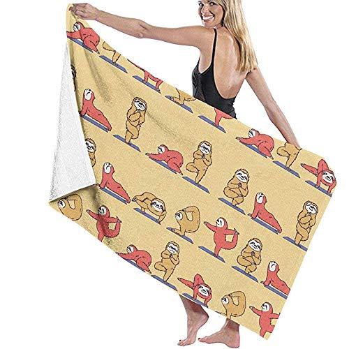 Bikofhd Bath Towel,Funny Sloth Yoga Travel Towels Spa Beach Towel Wrap for Girls,80x130cm