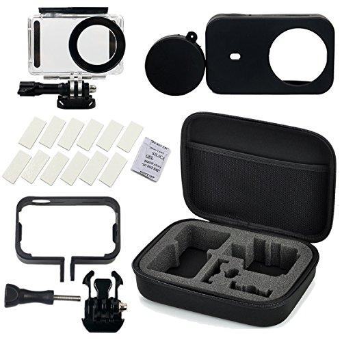 Flycoo Conjunto de 5 accesorios para cámara Xiaomi Mijia-Estuche impermeable, marco, funda...