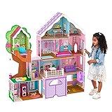 KidKraft- Treehouse Retreat Villa Casa Legno con Luci e Suoni con mobili e Accessori per Bambole da 30 cm, Multicolore, 10108