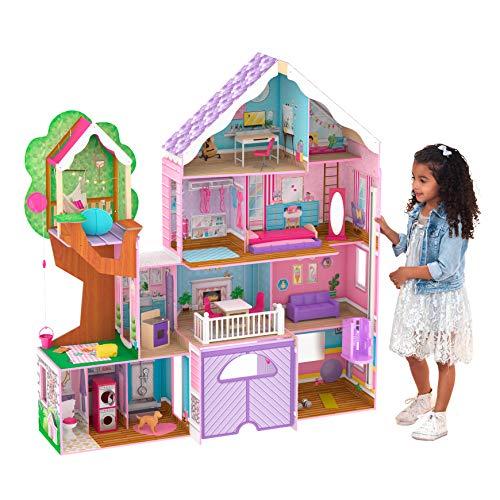 KidKraft- Casa Madera para muñecas de 30 cm, Multicolor (10108)