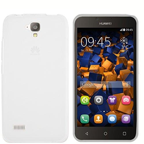 mumbi Hülle kompatibel mit Huawei Y5 Handy Case Handyhülle, transparent weiss
