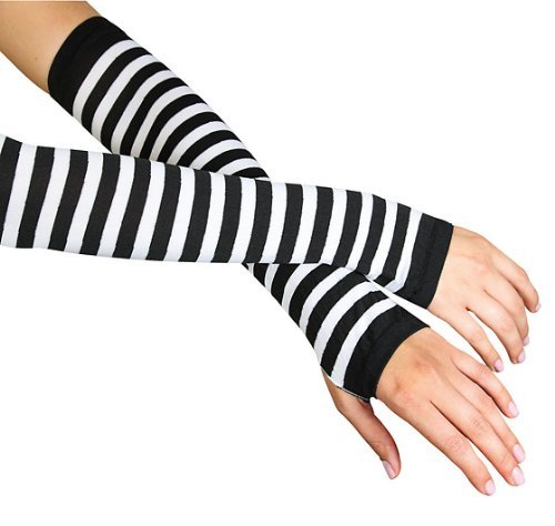 Striped Arm Warmers,2017,multi-colored,One-Size