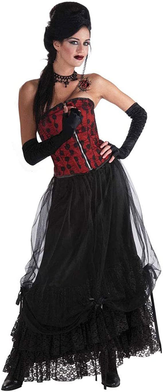 Gothic Crinoline Skirt With Lace Trim