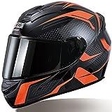 Casco De Motocicleta, Casco Moto Modular Con Doble Visera Integral Scooter Casco DOT/ECE Homologado Para Adultos Anti-Rasguños Y Protección Rayos UV Mujer Hombre Adultos G,M