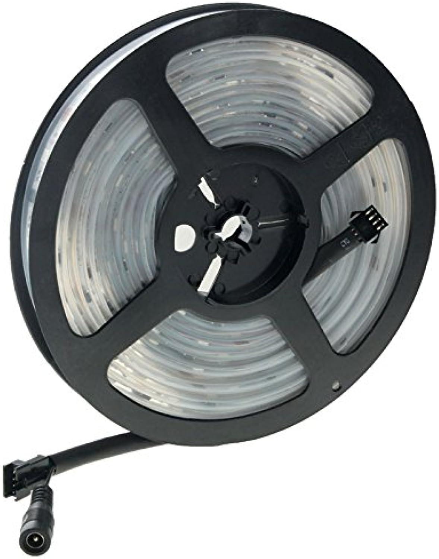 KHXYP LED Strip LED Streifen wasserdichte RGB LED 5050 SMD Lichtschlauch + RF Magic Controller + EU-Stecker-Netzteil + 2 Anschlusskabel Set LED-Lampe
