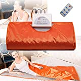 S SMAUTOP Infrared FIR Sauna Blanket Body Shaper Sauna Slimming Blanket Detox Therapy Anti Ageing Beauty Machine Used for Fitness (Orange)