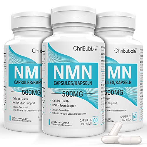 3 Pack NMN Supplements with Maximum Strength | 500mg Per Capsule | Powerful Boost NAD+ Levels for Supports Anti-Aging & Mental Performance | NAD Supplement | 180 Capsules Nicotinamide Mononucleotide