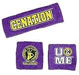 WWE John Cena Daniel Sweatbands strong Wristbands Piece Set purple