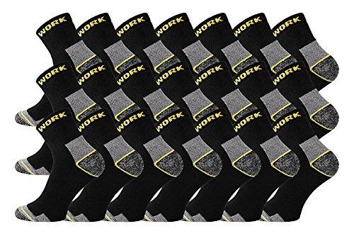 TippTexx24 6/9/12/15/18/21 Paar Arbeitssocken, Worker-Socks, normallang oder Kurzschaft-Sneakerform (43/46, kurz 21 Paar)