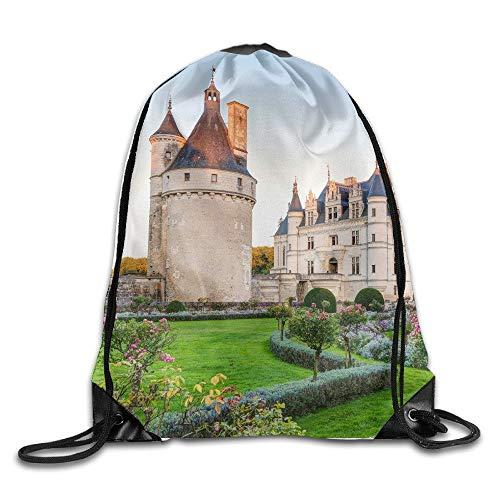 Chenonceaux Castle Frankreich Unisex Home Gym Sack Bag Reise Kordelzug Rucksack Tasche