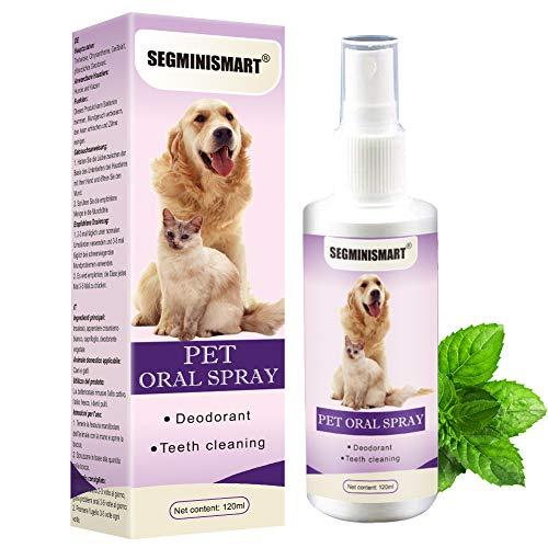 SEGMINISMART Dentalspray für Hunde und Katzen, Dental Care Spray, Zahnpflege und Zahnreinigung für Hunde und Katzen, Zahnsteinentferner & gegen Mundgeruch bei Hunden, 120ML