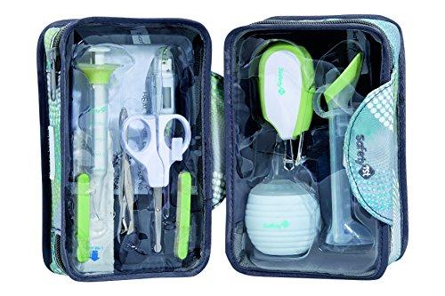 Safety 1st Großes Gesundheitsset für unterwegs, 9 wichtige Gesundheits- und Hygieneartikel für Babys, inkl. praktischem Reisetäschchen