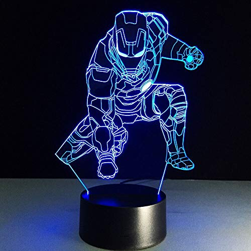 Luces Neon Pared Novedad 3D Luz de Noche LED Lámpara de Mesa LED 7 Cambios de Color Luces LED 3D Regalo de cumpleaños Navidad