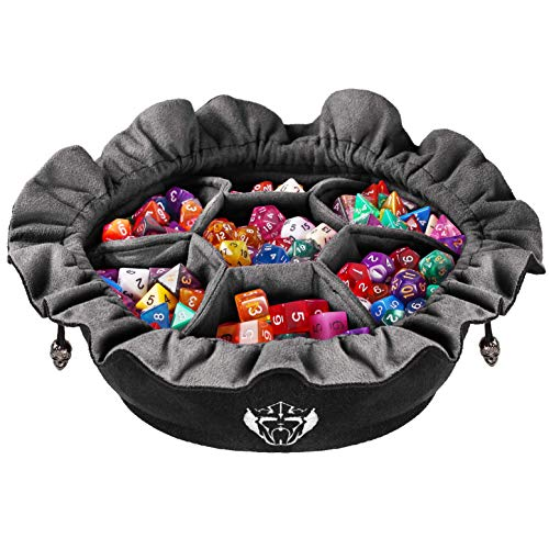 Immense Dice Bags with Pockets - Black - Capacity...