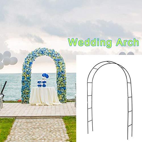 LIJUMN Arche De Jardin avec Portillon Sina - Arceau De Jardin Romantique en Fer Forgé - Support pour Plantes Grimpantes avec Porte Style Shabby-Chic - Couleur: Blanc