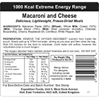EXPEDITION FOODSexpeditionfoods.com Macaroni and Cheese (1000kcal) -Freeze Dried Meal