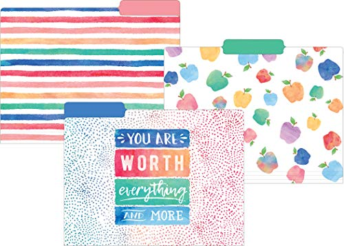 Teacher Created Resources Watercolor File Folders (TCR8541)