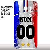 MYCOQUE Coque Samsung Galaxy S6 / S6 Edge Foot - Personnaliser Votre Maillot Foot France 2 Étoiles...