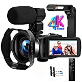 Videocamera 4K Ultra HD 48MP Videocamera Digitale IR Visione Notturna WiFi Video Camera Zoom...