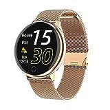 Naack Pulsera Actividad, smartwatch, Reloj Inteligente Impermeable IP67 Pulsómetro Monitor de sueño Deportivo Cronómetro Contador de calorias para Mujer calendario del periodo Compatible iOS y Android