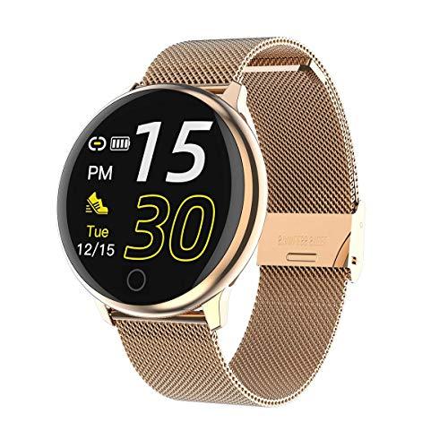Naack Activiteitsarmband, smartwatch, waterdicht, IP67, hartslagmeter, sportslaapmonitor, stopwatch, calorieënteller voor dames, kalender, compatibel met iOS en Android