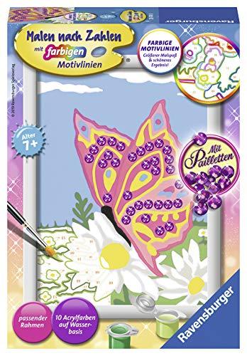 Ravensburger Malen nach Zahlen 28474 - Schmetterling - Für Kinder ab 7 Jahren