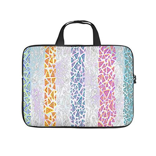 Bolsa para portátil con diseño de triángulo y manos abstractas, resistente a los arañazos y con estilo para el trabajo o el negocio