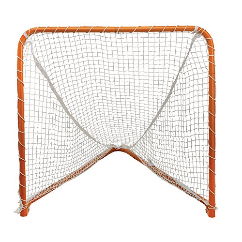 STX Lacrosse Folding Backyard Lacrosse Goal, Orange, 6 x 6-Feet