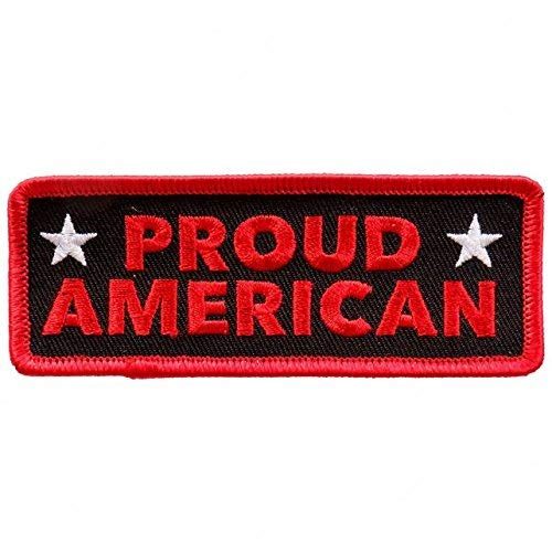 Licensed Originals Inc, Rayon Patch, High Thread Embroidered Iron-On/saw-on, Heat Sealed Backing Rayon Patch Einheitsgröße Proud American