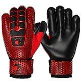 ZHANGCHUNLI Guantes de portero para niños, guantes de portero, duraderos y antideslizantes, proporcionan protección para evitar lesiones para niños Junior de fútbol/fútbol (color: rojo, tamaño: 9)