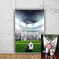 ZPCサッカーフィールドの背景5x7フィートスポーツゲームプレイグラウンドサッカーゲームデコレーション学校アクティビティイベント写真幼児キッドプロップデジタルビデオスタジオプロップ