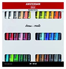 Proudly Crafted In Holland by Royal Talens Artist Level Acrylics Very high pigment load - fine grind of pigment Waterproof when dry
