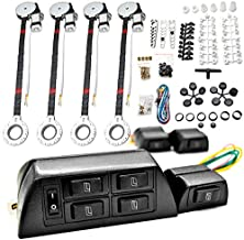 Biltek 4x Car Window Automatic Power Kit Electric Roll Up For Honda Accord Civic del Sol CR-V CRX Fit Prelude