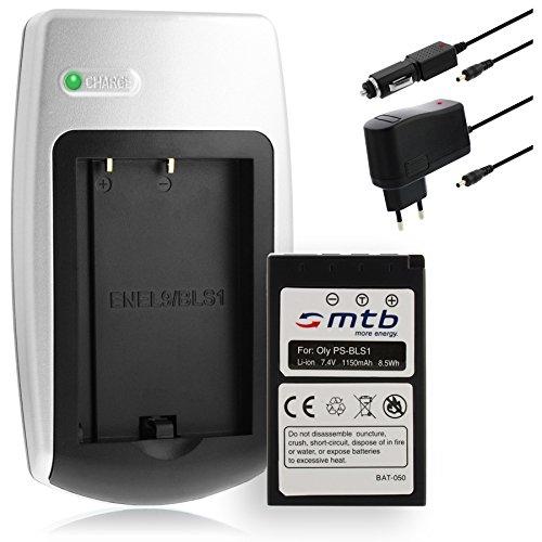 Cargador + Batería BLS-1 Compatible con Olympus Digital SLR E-400, E-410, E-420… / EP-1, E-P2, E-P3, E-PL1, E-PL3, E-PL7