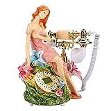 Changor Multa Teléfono, Teléfono Línea Poder Fuente Belleza Escultura Ventana Decoración Hogar con Epoxy Resina por Escritorio Cuarto Estante para Libros