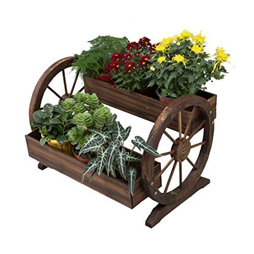 Support pour Plantes Support de Rangement en Bois pour Échelle d'affichage Support pour Pots de Fleurs Support pour Pot de Fleurs Balcon Chambre Taille du Jardin 70x48x50 cm / 35x66x45 cm