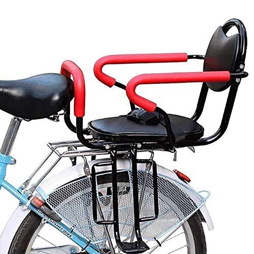 GYYlucky Bebé Asiento para Niños Bicicleta Asiento Delantero De Bicicleta Seguridad Estable Porta Silla para Niños Asiento Delantero para Bicicleta Consola para Niños con Reposabrazos Y Pedales